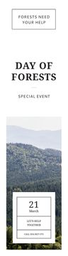 International Day of Forests Event Scenic Mountains | Wide Skyscraper Template