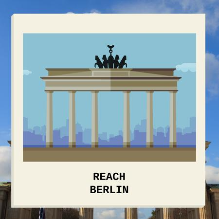 Berlin Famous Travel Spot Animated Post Modelo de Design