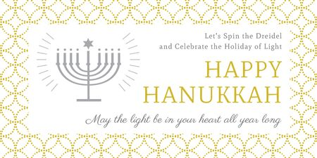 Plantilla de diseño de Invitation to Hanukkah celebration Twitter