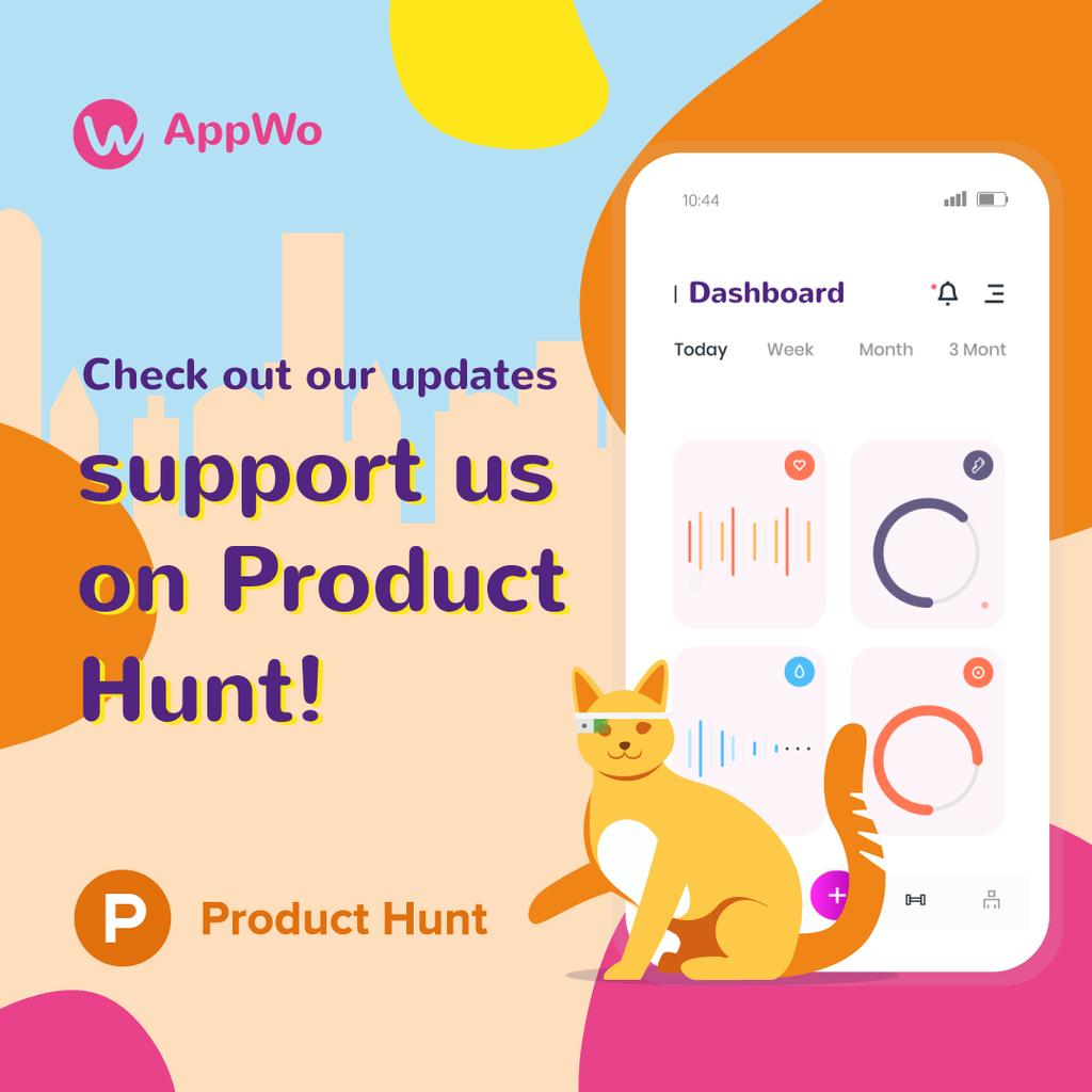 Product Hunt App Stats on Screen — Створити дизайн