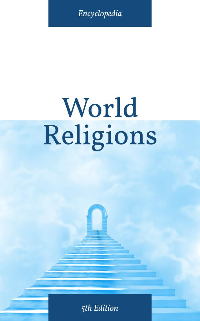 Religion Concept Stairs into Blue Sky Book Coverデザインテンプレート