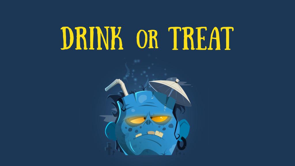 Halloween Drink in Frankenstein Head | Full Hd Video Template — Створити дизайн