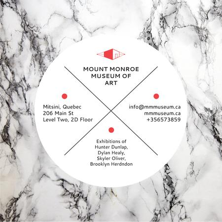 Szablon projektu Museum of art announcement on Marble pattern Instagram AD