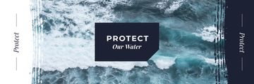 Ecology Quote Stormy Sea Waves | Email Header Template