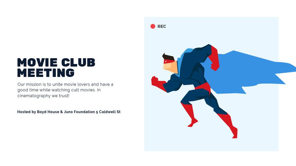 Movie club meeting — Créer un visuel