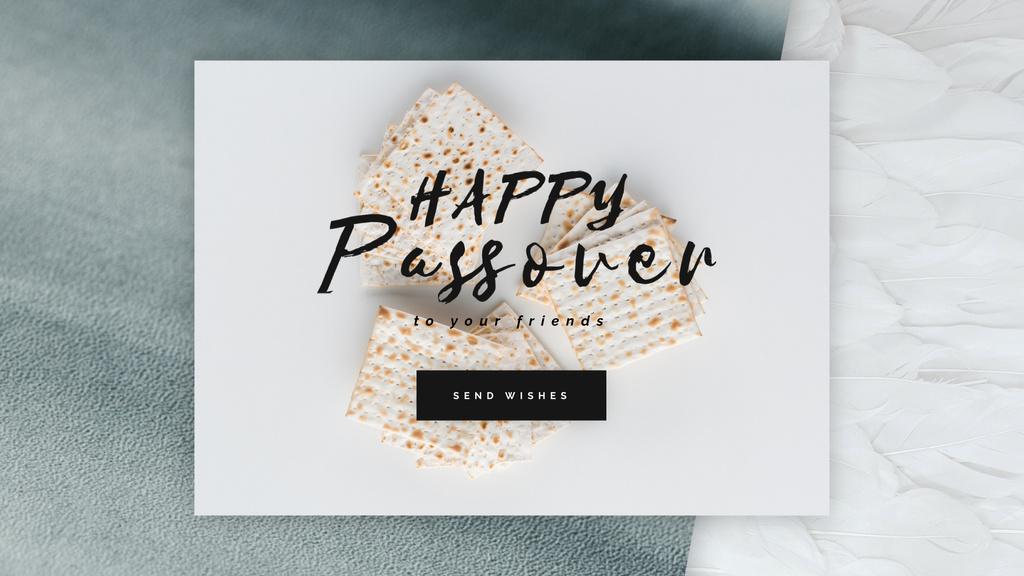 Happy Passover Unleavened Bread — Maak een ontwerp