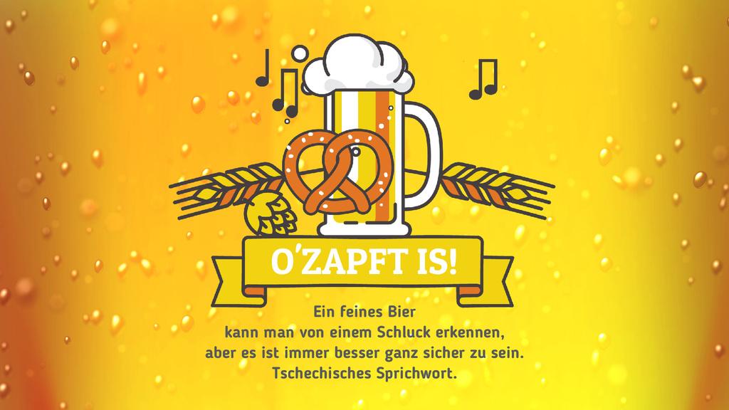 Oktoberfest Offer Lager in Glass Mug in Yellow | Full Hd Video Template — Crear un diseño