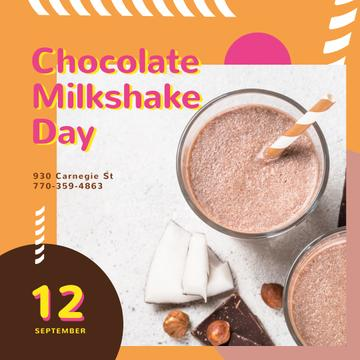 Sweet chocolate milkshake
