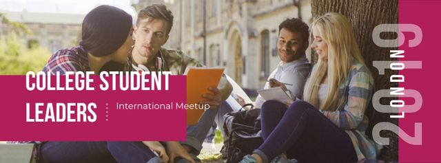 College student leaders International meetup Facebook cover Design Template