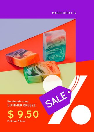 Plantilla de diseño de Natural Handmade Soap Shop Sale Flayer