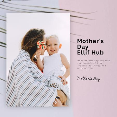 Template di design Flickering Heart with Ribbon for Mothers Day Animated Post
