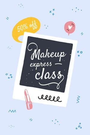Makeup express Class promotion Tumblr Modelo de Design