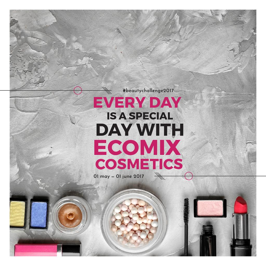 Makeup Brand Promotion with Cosmetics Set — Crear un diseño