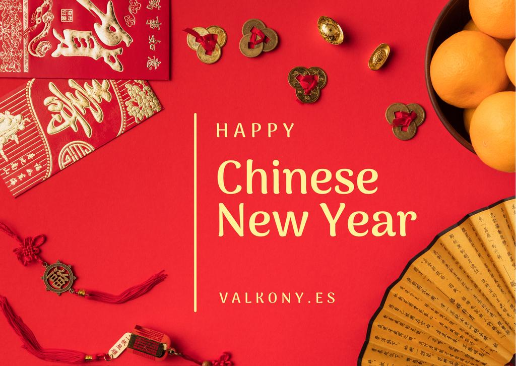 Chinese New Year Greeting Asian Symbols — ein Design erstellen