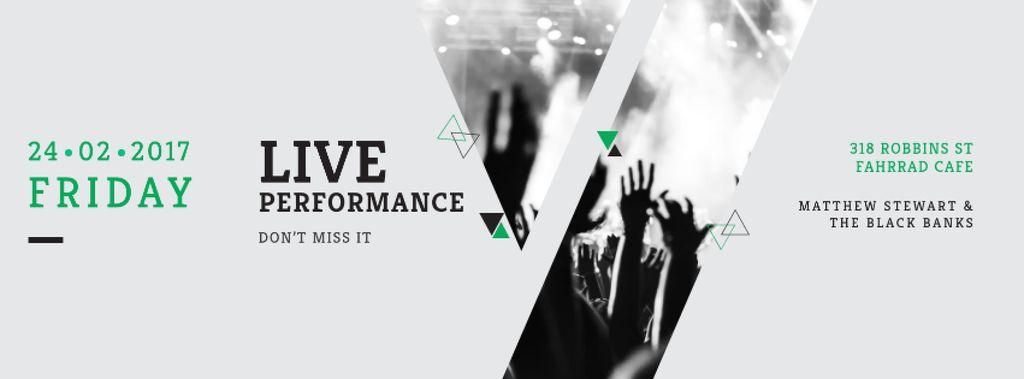 Live performance Annoucement — Crear un diseño