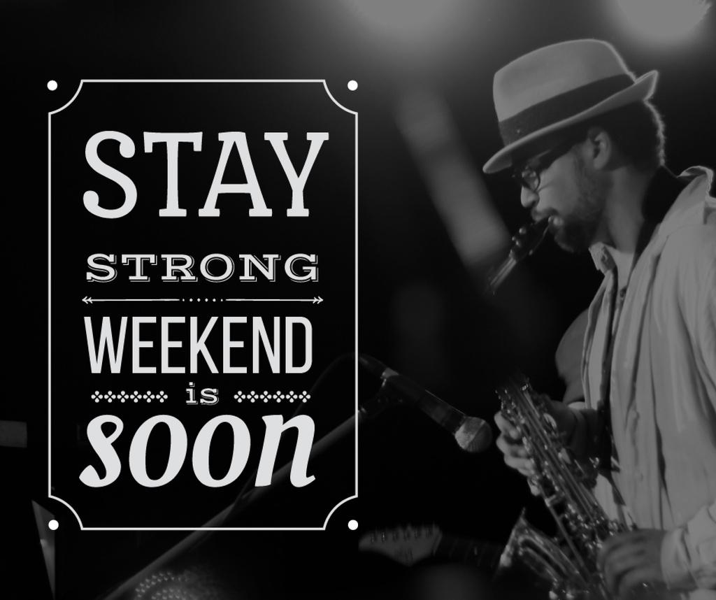 Jazz Musician playing Saxophone on Weekend — ein Design erstellen