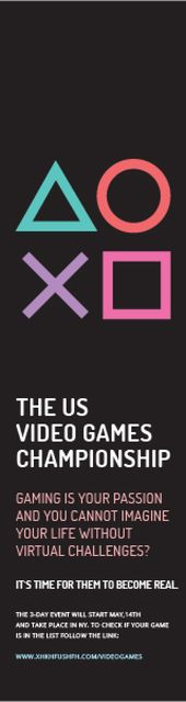 Video games Championship  Skyscraper – шаблон для дизайну