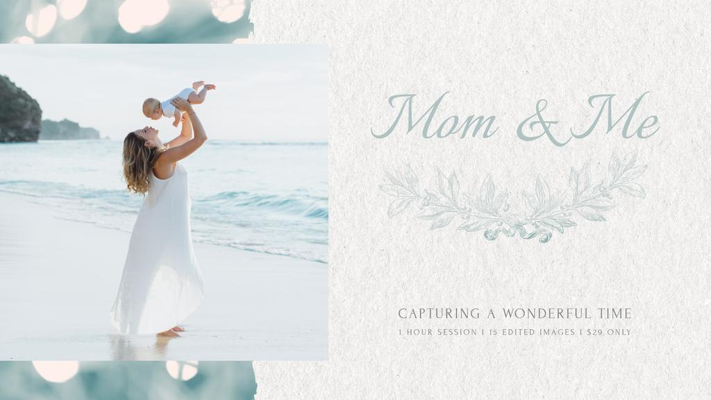 Mother's Day Mom with Baby by Sea — Створити дизайн