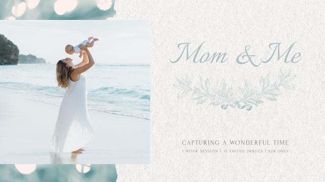 Ontwerpsjabloon van Full HD video van Mother's Day Mom with Baby by Sea