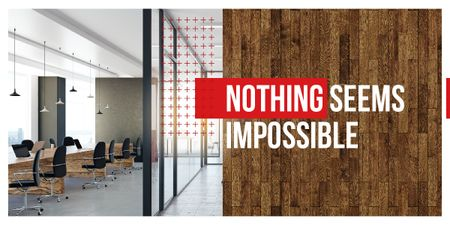 Modèle de visuel Nothing seems impossible poster - Image