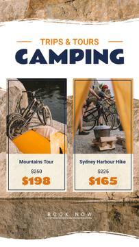 Camping Tour on Bikes Offer | Stories Template