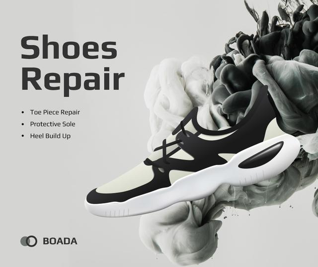 Template di design Sneaker Cleaning Service Ad in Black and White Facebook