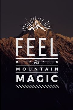 Nature inspiration with scenic Mountain peak