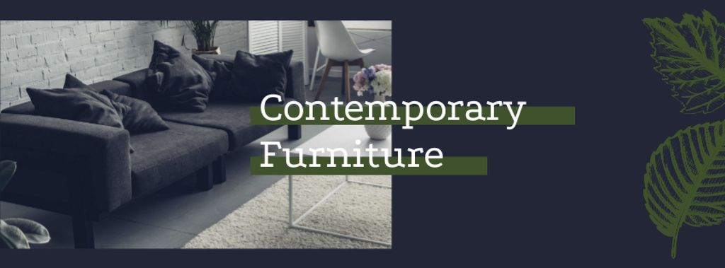 Contemporary Furniture Offer with Modern Room Interior — Créer un visuel
