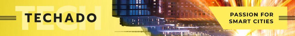 Smart City Concept Night Traffic Lights — Modelo de projeto