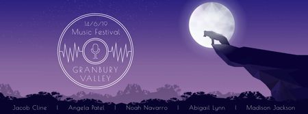Plantilla de diseño de Wolf howling to the moon Facebook Video cover