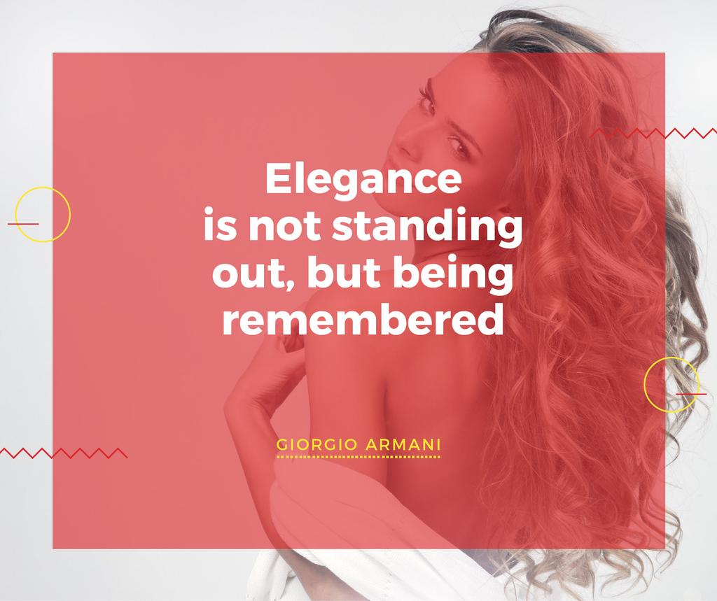 Elegance quote with Young attractive Woman — Crea un design