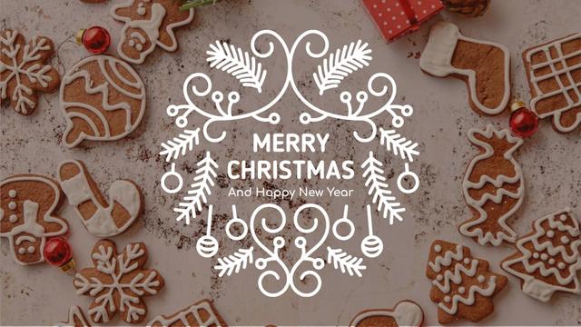 Plantilla de diseño de Christmas ginger cookies Full HD video