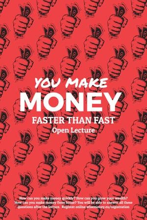 Making money poster Pinterest Tasarım Şablonu