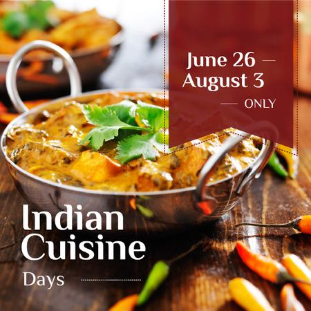 Indian Cuisine Dish Offer Instagram Modelo de Design