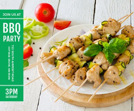 BBQ party poster Medium Rectangle Tasarım Şablonu