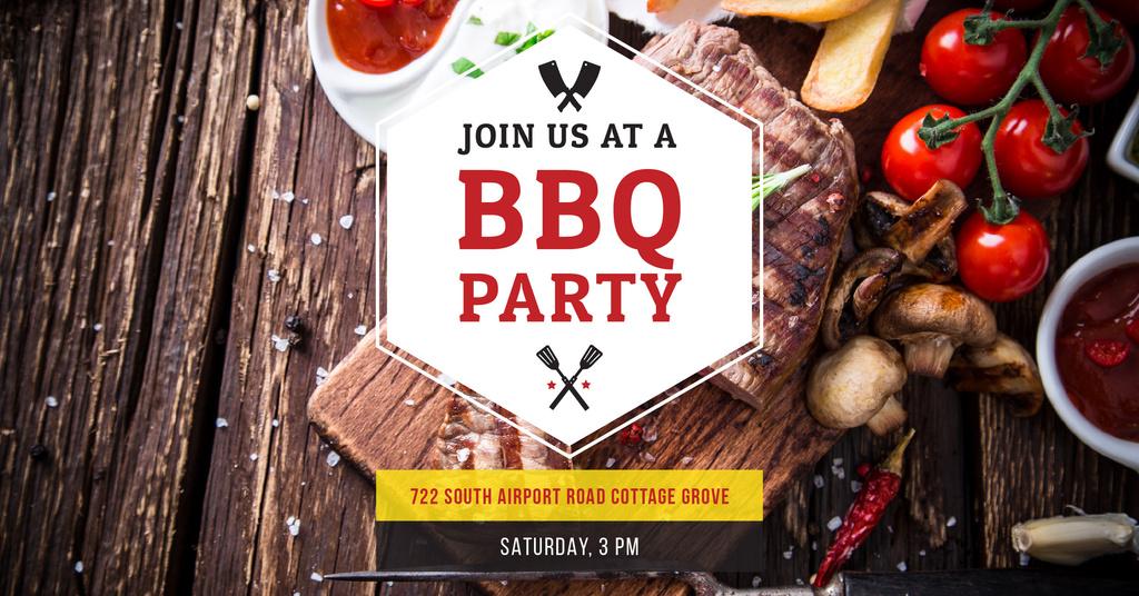 BBQ party Annoucement — Créer un visuel
