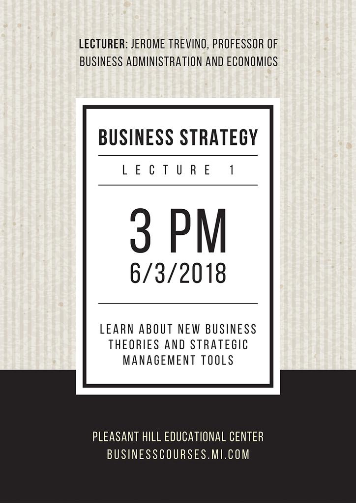 Business lecture in Pleasant Hill Educational Center — Crear un diseño