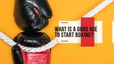 Boxing Guide Gloves in Red Titleデザインテンプレート