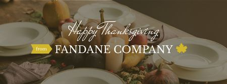 Ontwerpsjabloon van Facebook cover van Thanksgiving day Corporate Greeting