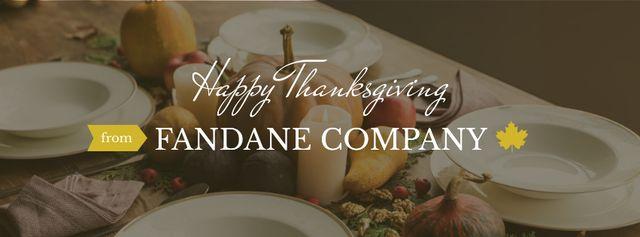 Thanksgiving day Corporate Greeting Facebook cover Tasarım Şablonu