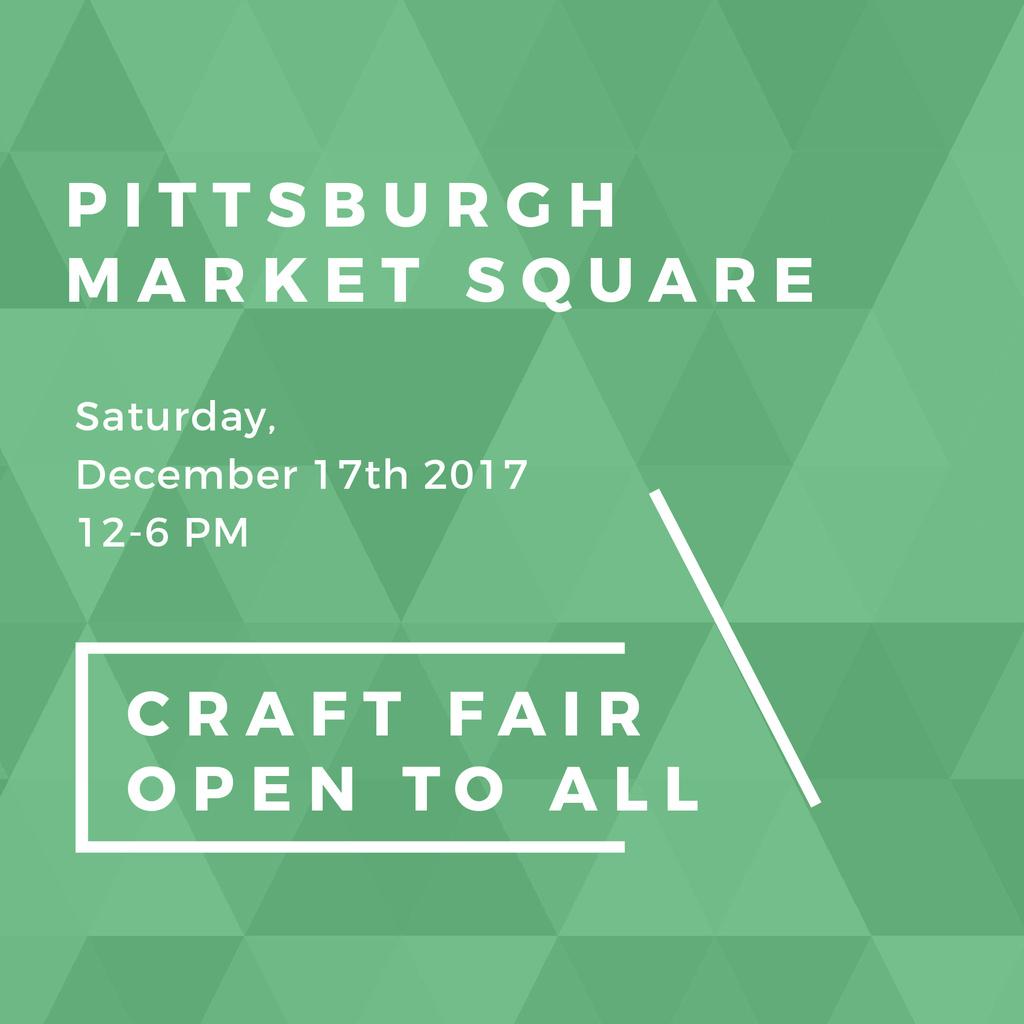 Craft Fair announcement on green pattern — Створити дизайн