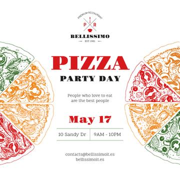 Pizza Party Day Invitation