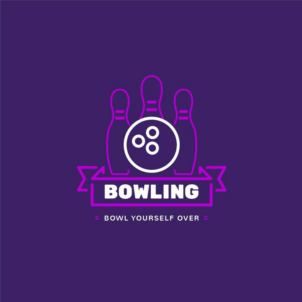 Bowling Club Ad with Ball and Pins — Crear un diseño
