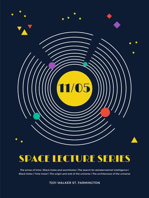Template di design Space Event Announcement Space Objects System Poster US