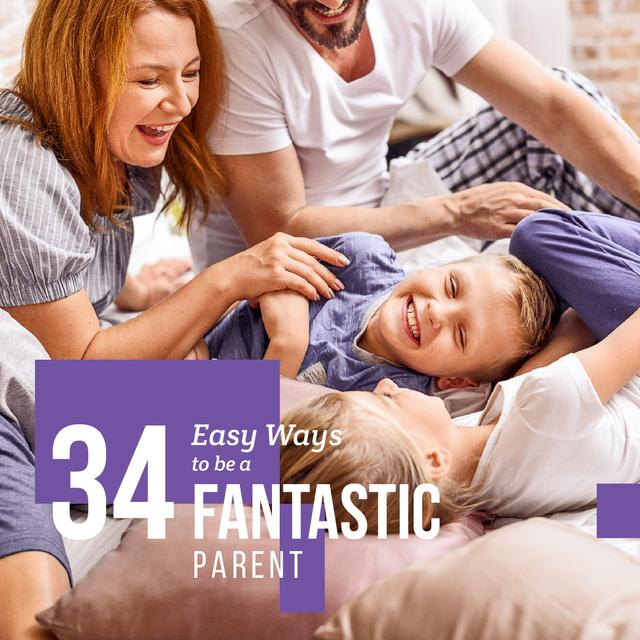 Template di design Parents with kids having fun  Instagram