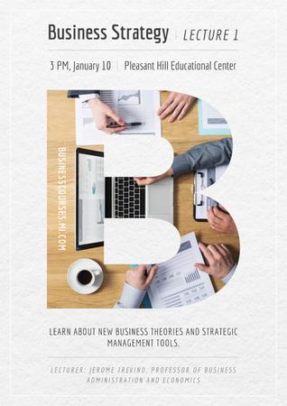 Template di design Business lecture in Educational Center Poster