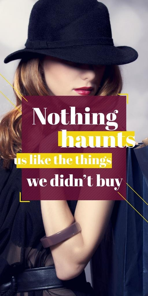 Quotation about shopping haunts — Створити дизайн