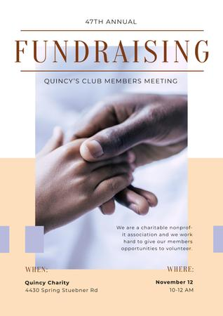 Template di design Fundraising Meeting Supporting Hand Poster