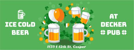 Plantilla de diseño de Saint Patrick's Day pub offer Facebook Video cover