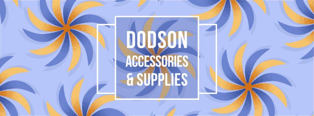 Blue kaleidoscope pattern — Create a Design